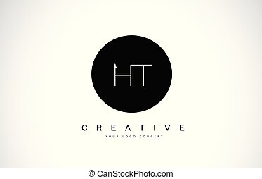 brev h, ht, skapande, design, t, vector., text, logo, vit, ...