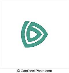 brev, vektor, mall, d, logo, design, initial