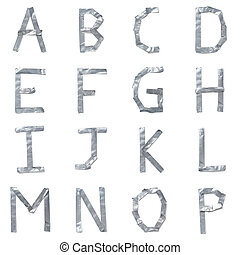 breven, gjord, tejpa, ute