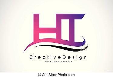 breven, h, nymodig, ht, skapande, vektor, t, brev, logo, ...