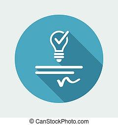 brevettato, web, -, idea, vettore, icona
