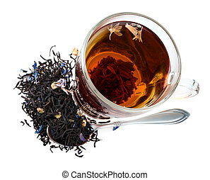 brew tea isolated on white background