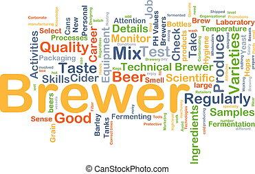 Brewer background concept