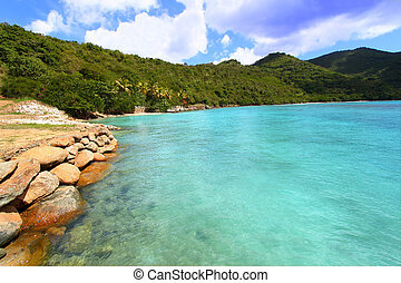 A beautiful sunny day at Brewers Bay on Tortola - BVI