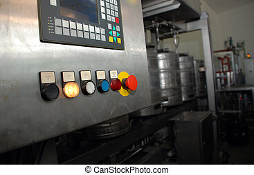 Brewery equipment - Control panel on a brewery