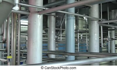 Brewery facility with many containers, close up. - Brewery ...