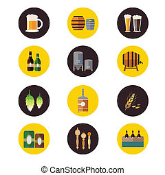 Brewery icons - A vector illustration of brewery icon sets