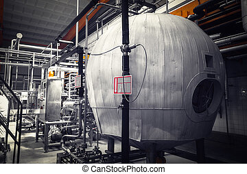 brewery interior, equipment