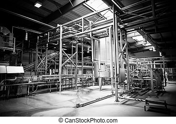 brewery interior - Interior of a modern brewery, equipment,...