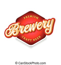 Brewery sign label lettering vintage