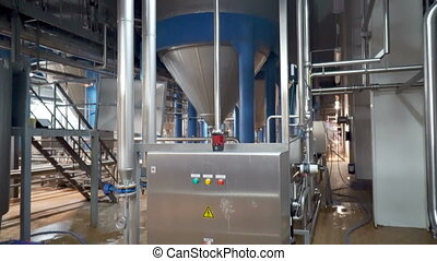 Brewing production - fermentation department