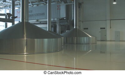Brewing production - mash vats