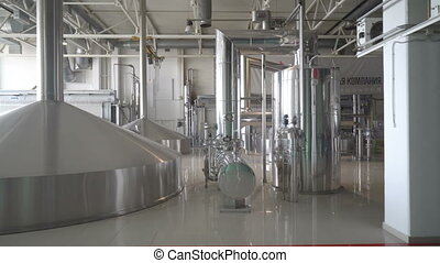 Brewing production - mash vats. - Moscow, Russian Federation...