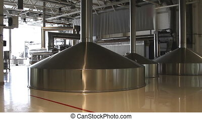 Brewing production - mash vats - Brewing modern production -...
