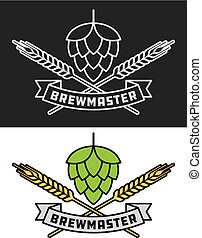 Brewmaster Craft Beer Vector Design - Brewmaster icon or ...