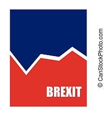 brexit, 抽象的, ビジネス, 旗
