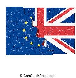 brexit, 旗