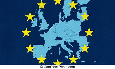 Brexit animation with the EU map - Brexit animation with the...