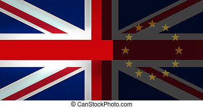 Brexit Bregret United Kingdom Flag Background Design