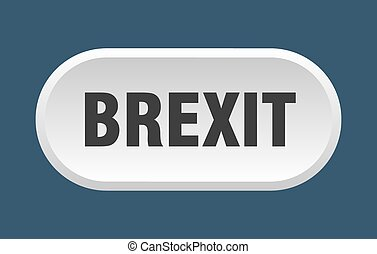 brexit button. rounded sign on white background