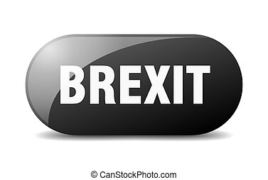 brexit button. sticker. banner. rounded glass sign