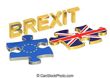 Brexit concept. 3D rendering