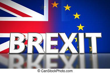 brexit, concept, bannière