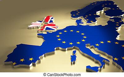 brexit, concept., referendum