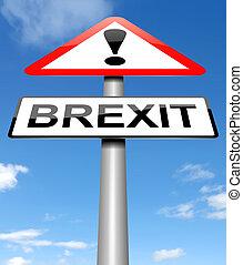 brexit, concept., signe