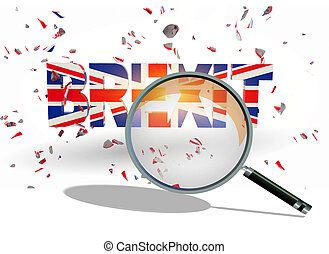 brexit concequenses in economy review examine results zoom len - 3d rendering