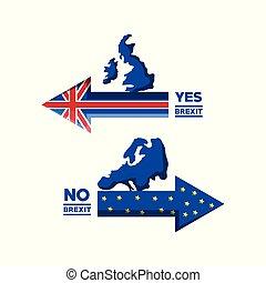 Brexit design concept