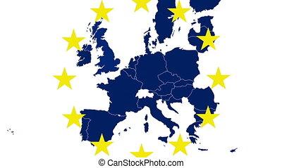 Brexit - EU blue map on white bg - Brexit - EU blue map on...