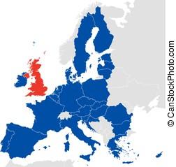 Brexit European Union Map