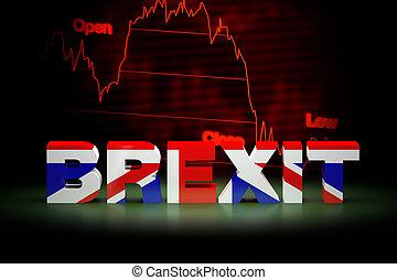 Brexit Financial Crisis, 3D Rendering