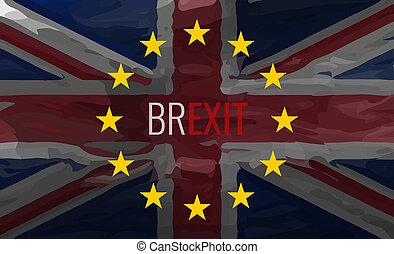 Brexit Flag Background Graphic Illustration Painted Design