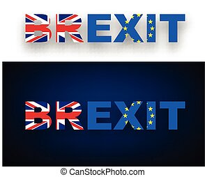 brexit, flags., chorągiew