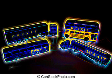 A look forward to Brexit and the gridlock it will cause with goods and transport coming to a standstill.