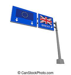 Brexit Highway Sign