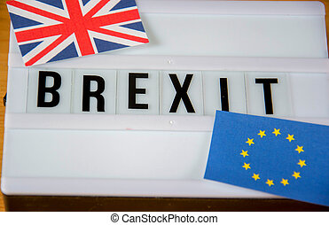 Brexit - Lightbox with the word brexit