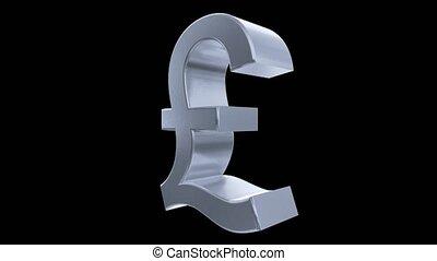brexit, livre, angleterre, finance, business, symbole, impôt, signe, grande-bretagne, tourner, 4k, boucle