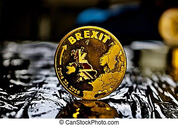 brexit, monnaie, or, physique