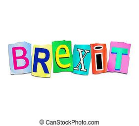 brexit, mot, concept.