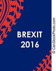 brexit, pneumatico, disegno astratto, fondo, 2016