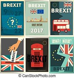 Brexit Posters Set