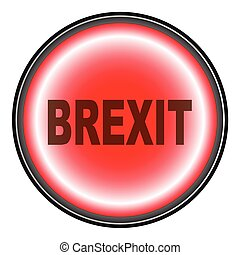 Brexit Push Button - A Brexit button in red isolated on...