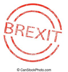 Brexit Red Rubber Ink Stamp
