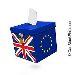 Brexit Referendum Illustration isolated on white background...