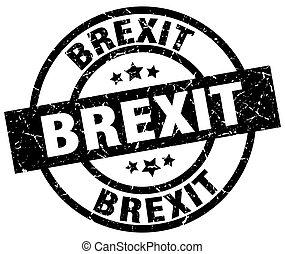 brexit round grunge black stamp