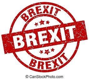 brexit round red grunge stamp