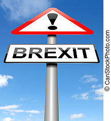 Brexit sign concept. - Illustration depicting a sign with a ...